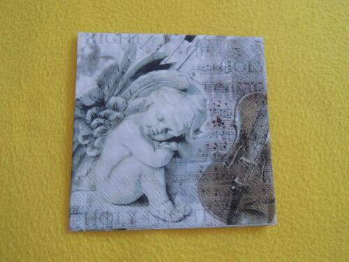 20 Servietten Engeln Musik Geige 1 Packung OVP Weihnachten SILENT NIGHT angel AM