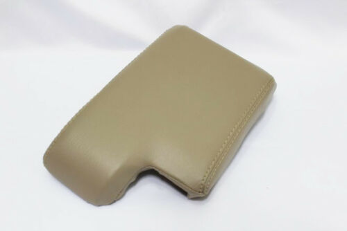 Beige Center Console Lid Armrest Cover Real Leather For 99-06 BMW E46