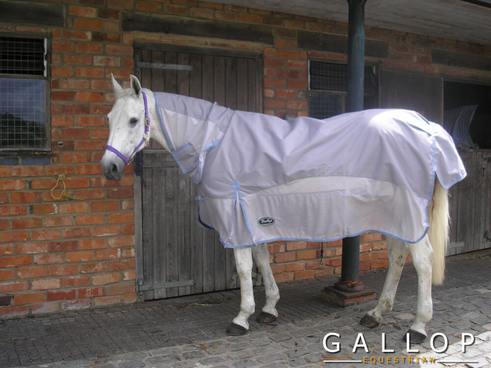 The California Combination Summer Turnout Rug. Duel features- fly & rain predect