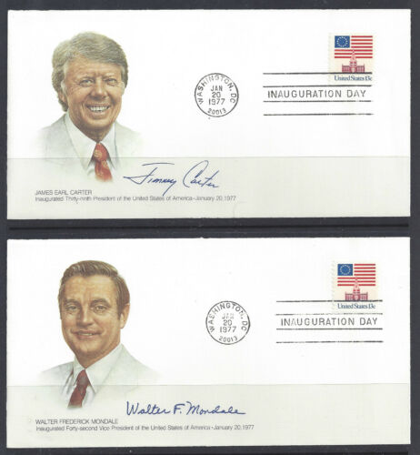 Un-Addressed Fleetwood DC Cancel 2 Carter//Mondale 1st Term Inaugural Cover