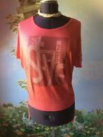 H Q W Women Fashion Orange Batwing Sleeve Studded Top Blouse Sz L