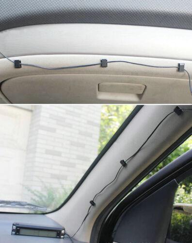 Clips adhesivos 3M sujeta cable de móvil cargador gps en coche camión furgón
