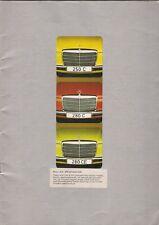 Mercedes-Benz 250 280 C CE Coupe W114 1973-76 UK Market Sales Brochure