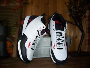 and1 mens basketball shoes size 85 white black red casual