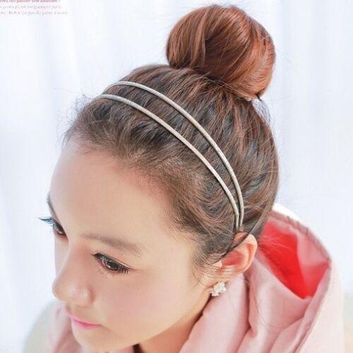 Women Hair Band Elastic Sports Hairband Lady Double Braided Decorative Headband