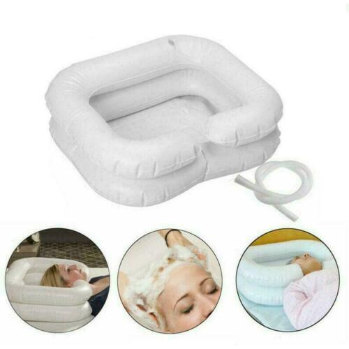 Foldable Inflatable Portable Bed Shampoo Washing Hair Basin For Disabled M9K8