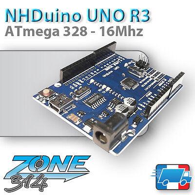 NHduino Uno R3 - Mini USB - ATmega 328P (clone Arduino UNO R3)
