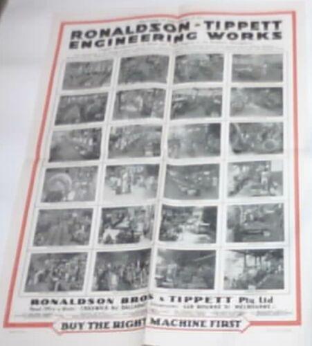 Ronaldson Tippett Engineering Works Poster Original