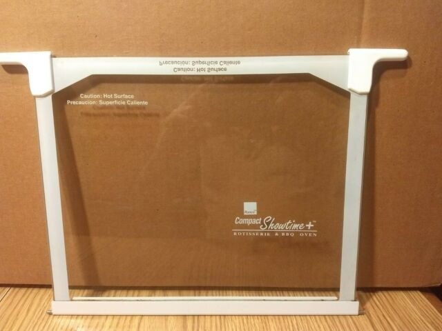 Ronco Showtime Rotisserie Glass Door BBQ 2500 3000 /& 3000T  Replacement part