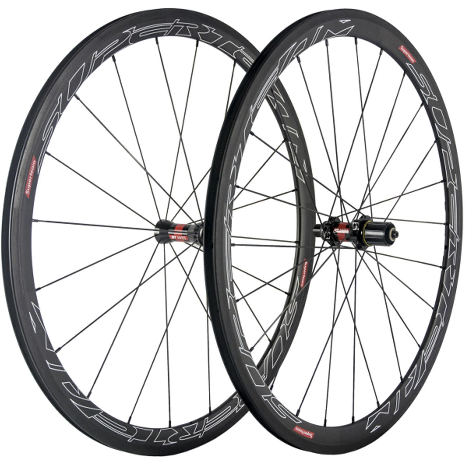 e64be197fa4 1 Pair 38mm Clincher Carbon Wheels Road Bike DT240S Matte Carbon Wheelset  UD Of orrcef4392-Wheels & Wheelsets