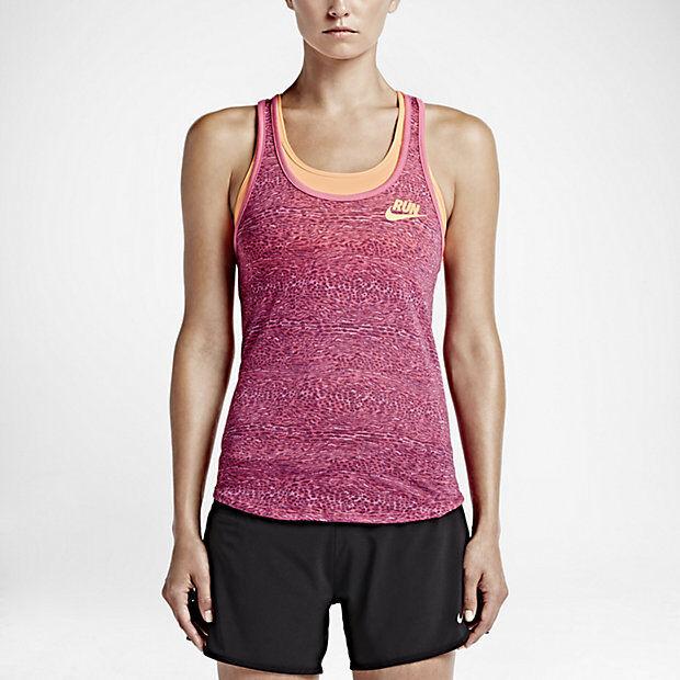 Nike Women's Racerback Run Tank Top Small Pink Dri Fit 684035 667 With Tags