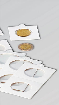 Amicable 100 Self Adhesive Coin Holders 37.5mm For Double Florin Publications & Supplies
