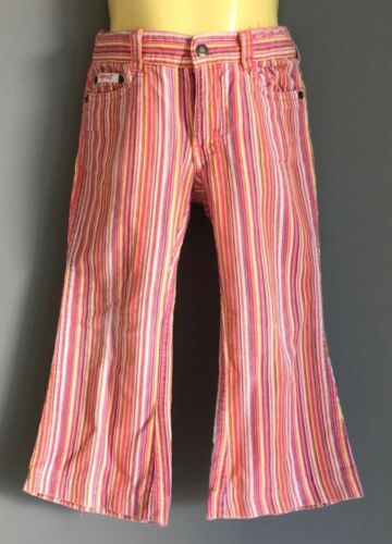 Girls Multi Colour Stripe ESPRIT Corduroy Jeans Size 3  Retro Gem