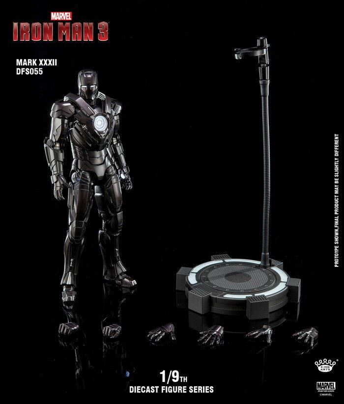 King Arts DFS055 1 1 1 9th Iron Man Mark32 Ultimate Alltronic Figure Model Toy Metal 8efff2