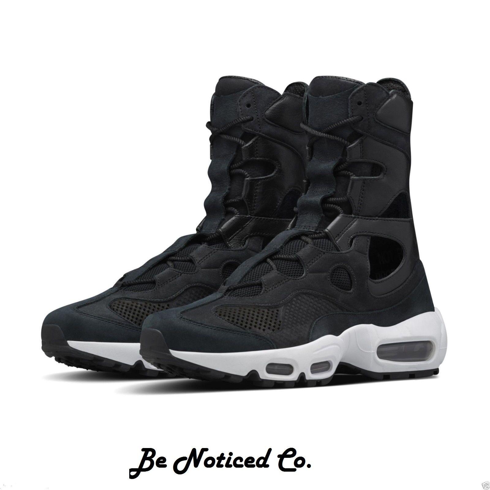 Nike Nike Lab Air Max 95 Empire Femmes Bottes Chaussures 5.5 Noir Blanc