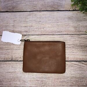Madewell Brown Leather Coin Purse Credit Card Holder
