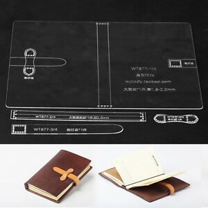 WUTA DIY Journal Notebook Gift Diary Leather Template Acrylic Pattern Belt Loop