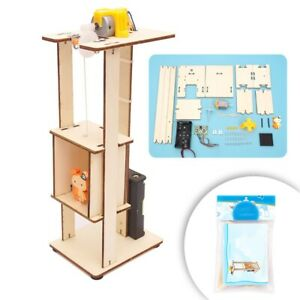 Details about DIY Electric Lift Kit Kids Science Elevator Model Experiment  Educational Toy UK