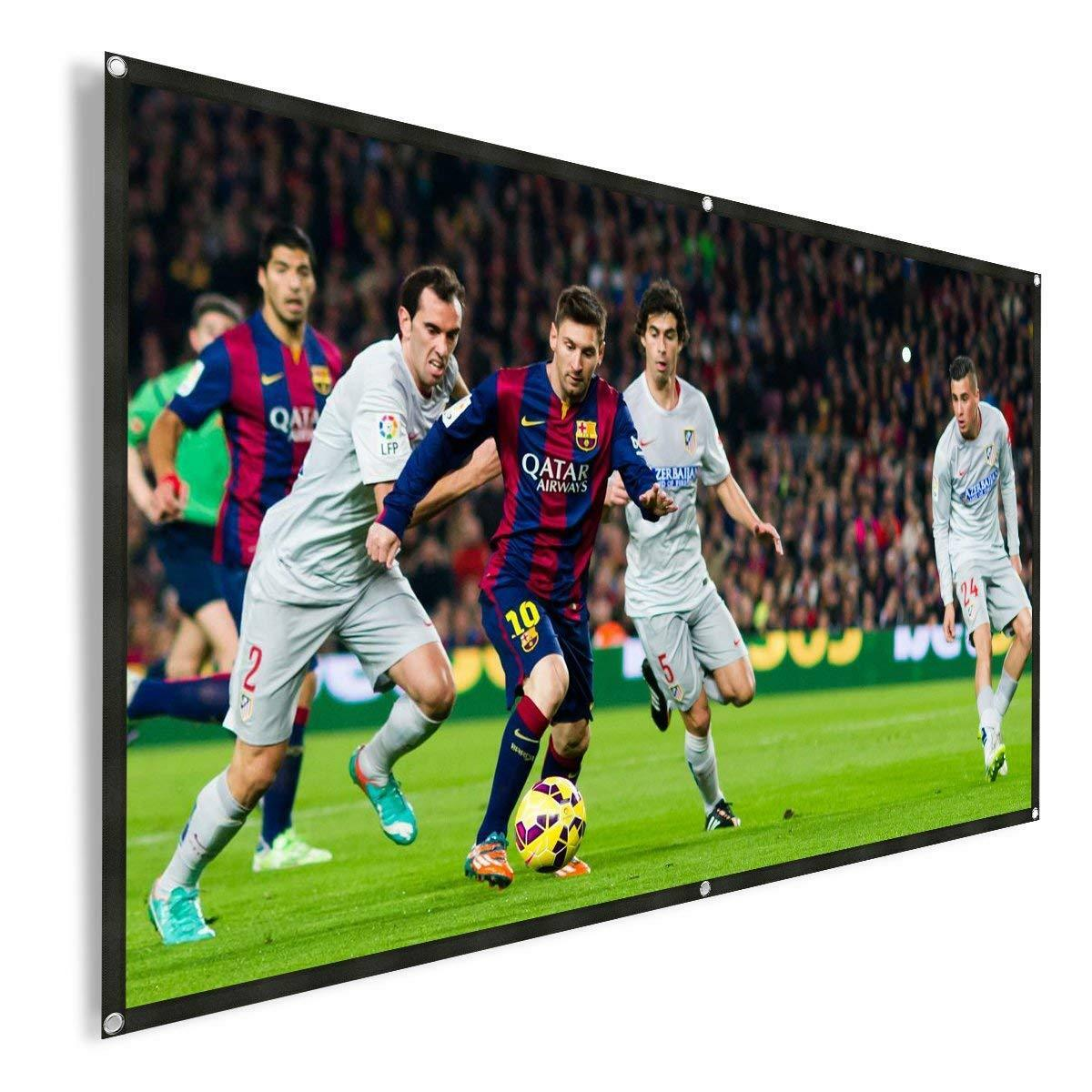 72-120'' Portable Foldable Projector Screen 16:9 HD Home The