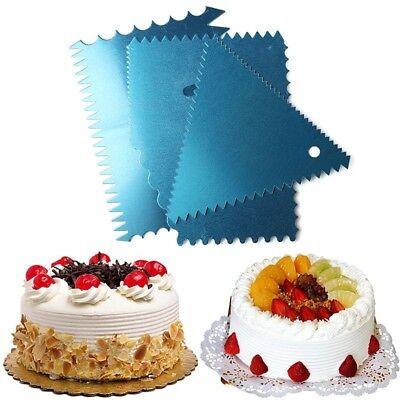 Aisin Glatter Kamm Dekorieren Torte Creamtorte Baking Accs. & Cake Decorating Sincere Kuchen Schaber 4 Stück/set Other Baking Accessories
