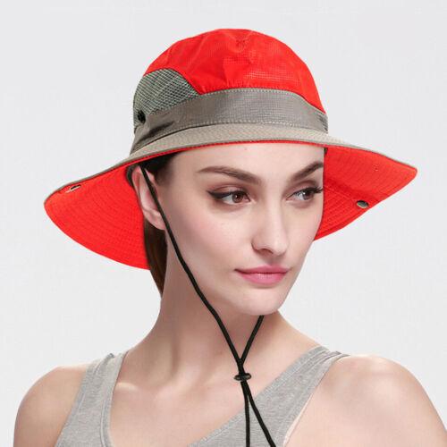 Herren Outdoor Mesh Sonnenhut Wide Brim UV Sonnenschutz Hut Angeln Wanderhut