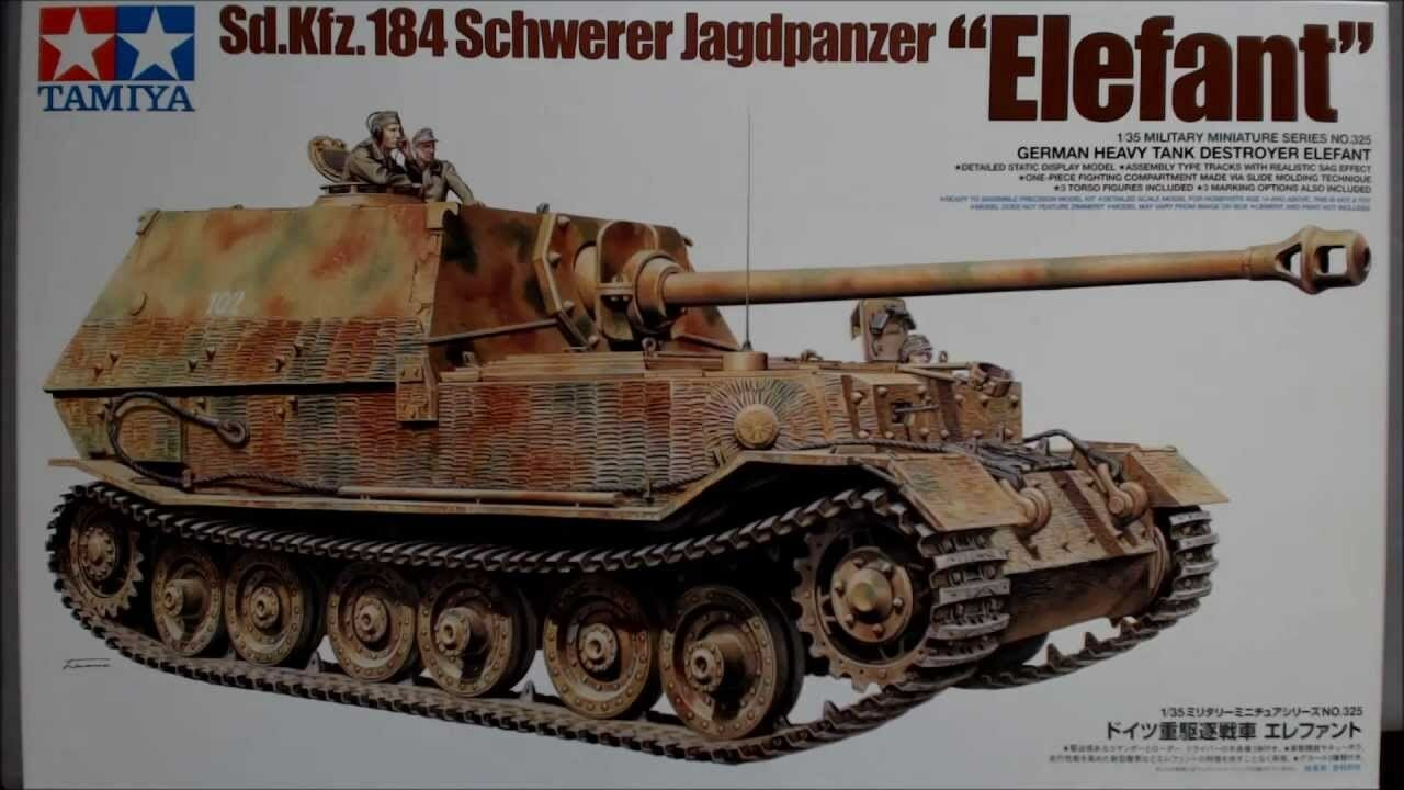 Tamiya 1 35 scale WW2 German Elefant  SD.KFZ.184 tank model kit