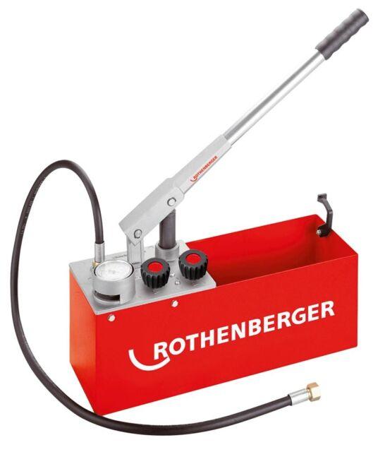 Rothenberger Präzisionsprüfpumpe für Druckprüfung bis 60 bar, Prüfpumpe RP50-S