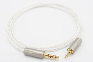 2.5mm to 4.4mm Male to Male Balanced Silver Plated Headphone AUX Audio Cable 1m