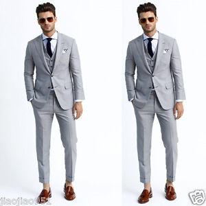 Slim Fit Business Tuxedos Formal Party Best Men Suits Wedding ...