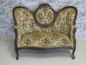 ... Victorian Loveseat Kimball Furniture Reproductions Carved Mahogany Room