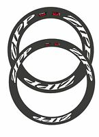 Zipp Mix 404 + 808 2013 White With Black Outline Replacement Rim Decals