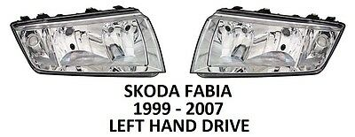 SKODA FABIA HEADLAMPS HEAD LAMP LIGHT LIGHTS HEADLIGHTS 1999-2007 H7 H3 PRAKTIK