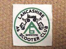 Vintage 1983 LANCASHIRE A6 SCOOTER CLUB Patch Badge Mods LAMBRETTA VESPA