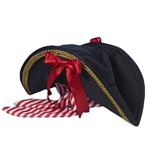 Adult Fancy Deluxe Pirate Head Hat With Bandana Unisex Fancy Dress Accessory