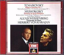 Alexis WEISSENBERG TCHAIKOVSKY Piano Concerto 1 MUSSORGSKY Pictures KARAJAN CD
