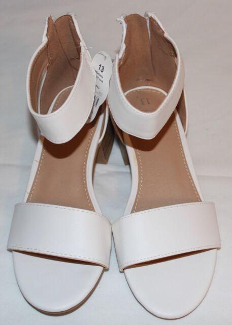 Wonder Nation Girl's White Sandals Size
