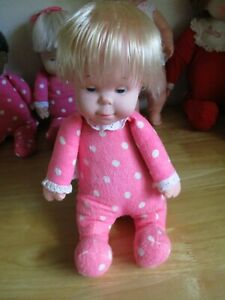 Vintage 1964 Mattel Drowsy Pink Doll Polka Dot, No Longer Speaking, She is Clean
