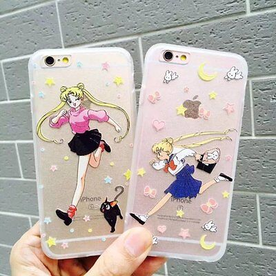 New Transparent Sailor Moon Acrylic cartoon back case cover for iPhone 6s 6 plus