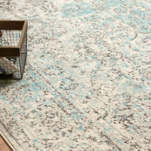 Living Room Rugs Overdyed Vintage Traditional Distressed Rug in Neutral