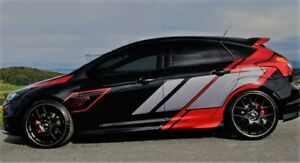 Details Zu Ford Focus St Tuning Auto Ganzer Körper Aufkleber Styling Aufkleber Wandbild Rot