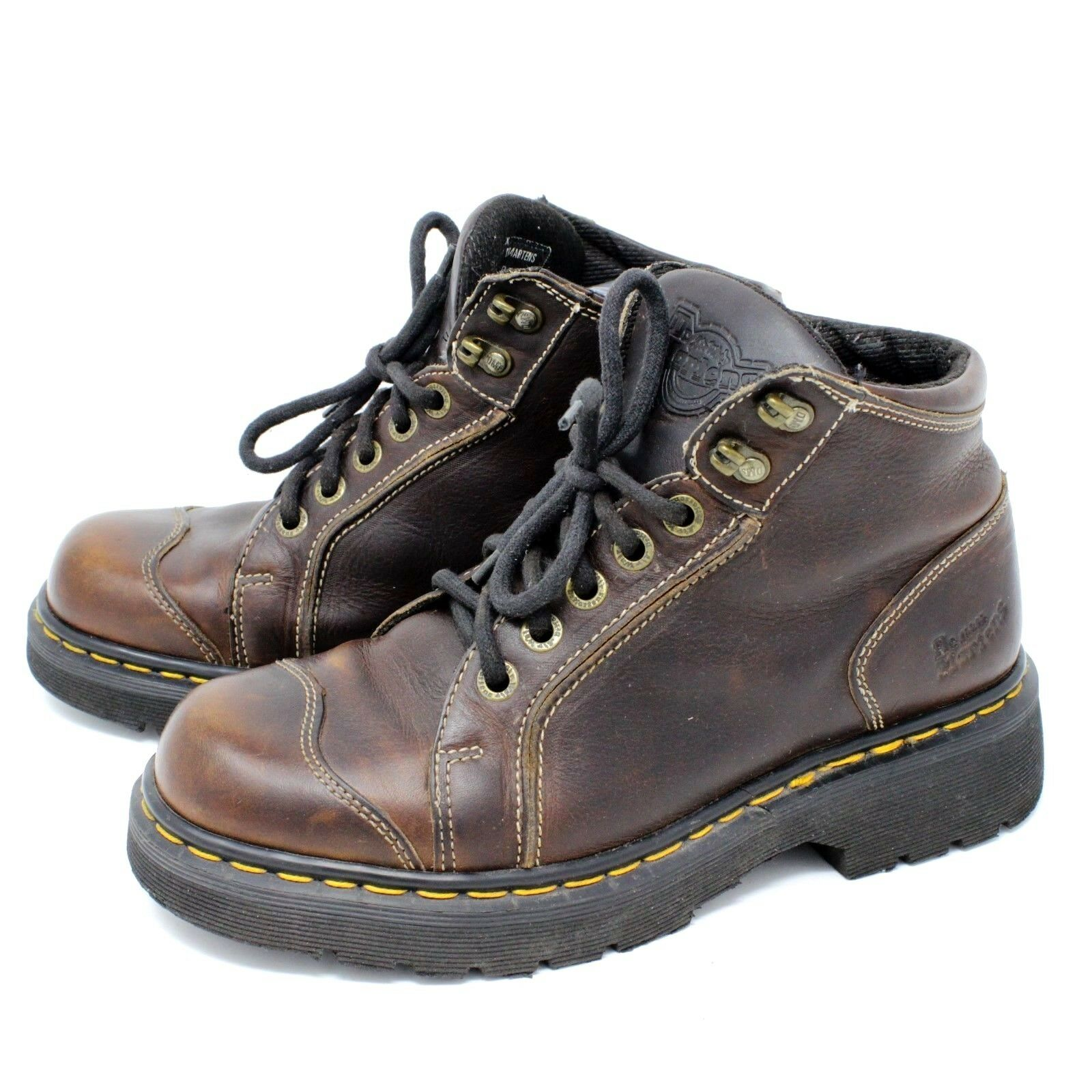 Dr. Martens Womens Brown Leather Boot Lace Up US 8 Model 9406 Made In England