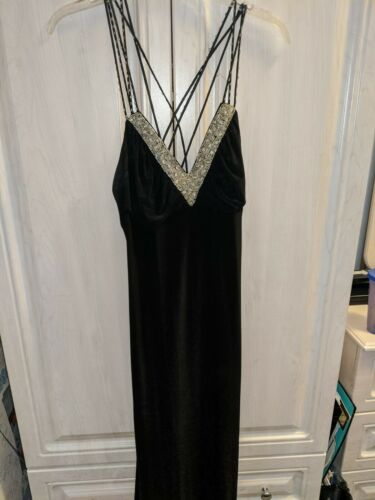 Beaded Evening Gown In Black