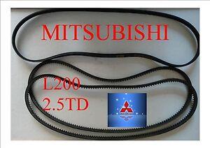 All three belts mitsubishi warrior fan belts kit for l200 25td image is loading all three belts mitsubishi warrior fan belts kit publicscrutiny Gallery