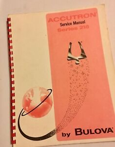 Good-condition-vintage-Bulova-Accutron-watch-218-Technical-Service-Manual-1969