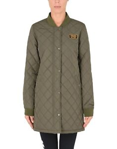 WOMENS-VANS-BOOM-BOOM-QUILT-ALL-WEATHER-GREEN-SKATE-JACKET-COAT-SZ-LARGE-L-NWT
