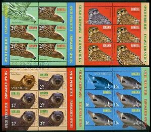 2017 Endangered Species,Beluga sturgeon,Imperial Eagle,Merlin,Otter,Romania,KBxx