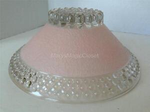 Vintage Art Deco Pink Hobnail Glass Ceiling Light Fixture