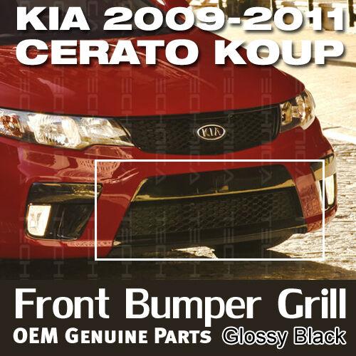 OEM Parts Front Lower Bumper Grille Glossy Black for 2009-2013 Forte Koup
