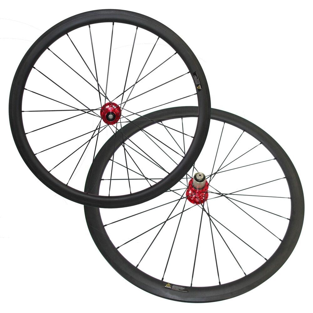 Disc brake novatec light hub 25mm width 38mm clincher 700C carbon wheel,6 bolts
