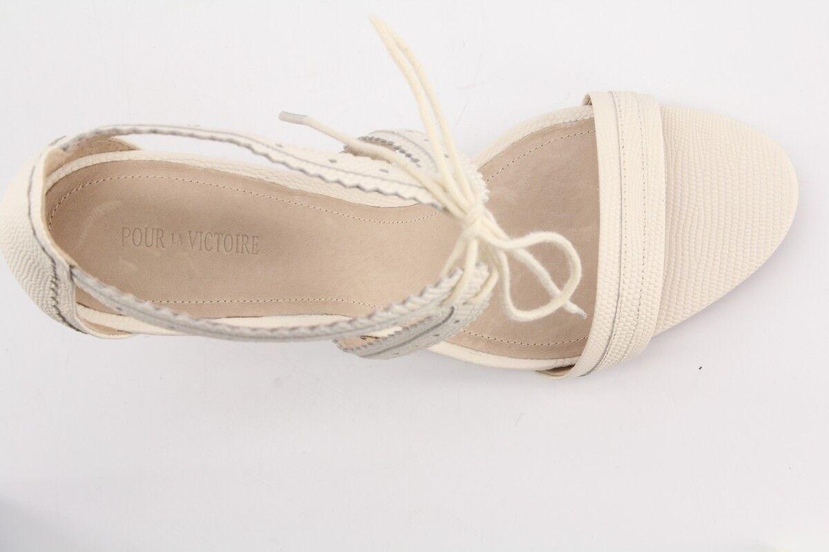 225 NEW Pour La Victoire Shanna Cream Cream Shanna Lizard Print Pelle Sandals sz 9.5 Pumps 2de74f